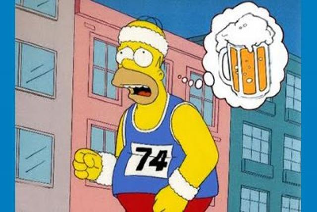 Homer Simpson Running Anthony R Locke